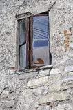 Altes Fenster in Kamianets-Podilskiy Stockfoto