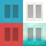 Altes Fenster schließt Illustration Fensterläden Lizenzfreie Stockfotos
