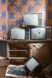 Altes Fernsehen Stockbild