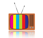 Altes Fernsehen, Illustration Stockfoto