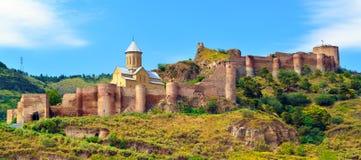 Altes Festung Narikala-inTbilisi lizenzfreie stockbilder