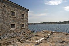 Altes Festungsgebäude auf Marstrandsön Lizenzfreie Stockfotografie