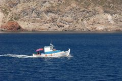 Altes Fischenboot bei Griechenland Lizenzfreie Stockbilder