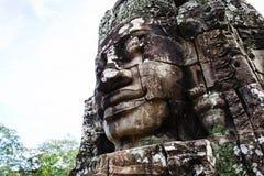 Altes Flachrelief in Kambodscha stockbilder