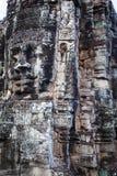 Altes Flachrelief in Kambodscha stockbild