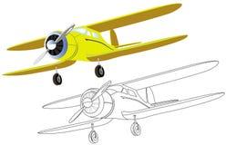 Altes Flugzeug mit Propeller Lizenzfreie Stockbilder