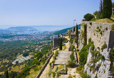 Altes Fort in der Spalte, Kroatien Stockbilder