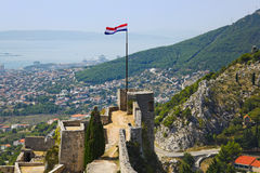Altes Fort in der Spalte, Kroatien Lizenzfreies Stockfoto