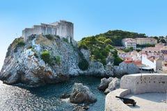 Altes Fort Lovrijenac in Dubrovnik, stockfotografie