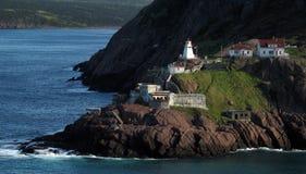 Altes Fort mit Leuchtturm stockbilder
