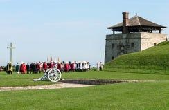 Altes Fort Niagara - historische Parade Lizenzfreies Stockbild