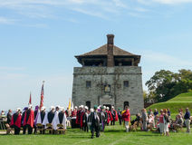 Altes Fort Niagara - historische Parade Stockbild