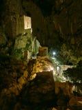 Altes Fort in Omis nachts Lizenzfreies Stockbild