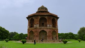 Altes Fort Timelapse Purana Quila in Delhi, Indien stock footage