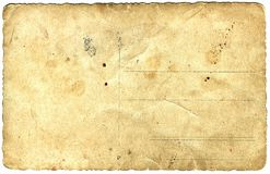 Altes Fotopapier färbte sich gelb Stockfotografie