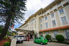 Altes Französisch-Ähnliches Hotel in Dalat, Vietnam Stockfotos