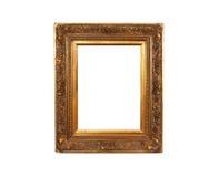 Altes französisches Gold gemalter hölzerner Rahmen Lizenzfreies Stockbild
