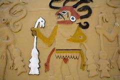 Altes Fresko in Huaca De-La Luna, Trujillo Lizenzfreies Stockfoto