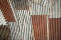 Altes galvanisiertes Stahl und verfallen stockbilder