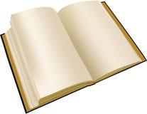 Altes geöffnetes Buch Stockfoto