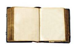 Altes geöffnetes Buch Lizenzfreies Stockfoto