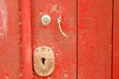 Altes gealtertes Schlüsselloch Lizenzfreies Stockbild