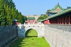 Altes Gebäude der chinesischen Art Stockfoto