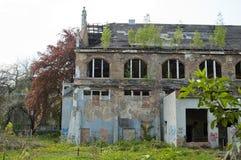 Altes Gebäude des Badhauses Stockbilder