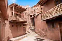 Altes Gebäude im Dorf Abyaneh, der Iran Lizenzfreies Stockfoto
