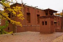 Altes Gebäude im Zoroastriandorf Abyaneh, der Iran Stockbilder