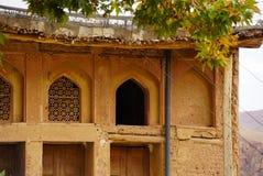 Altes Gebäude im Zoroastriandorf Abyaneh, der Iran Stockbild