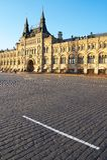 Altes Gebäude am roten Quadrat in Moskau. Stockfotos
