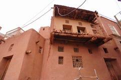 Altes Gebäude in Zoroastrian villageAbyaneh, der Iran Stockbild