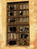 Altes gebrochenes Fenster Lizenzfreie Stockbilder