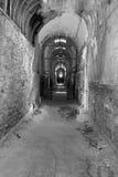 Altes Gefängnis in Schwarzweiss Stockfotos