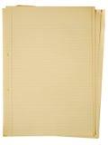 Altes gelb färbendes Papier A4. Lizenzfreie Stockfotografie