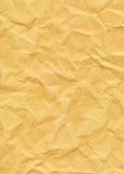 Altes gelb gefärbtes gekrümmtes Papier Lizenzfreies Stockfoto