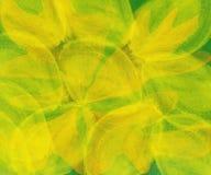 Altes gelbes Papier auf dunklem Hintergrund Lizenzfreie Stockfotos
