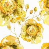 Altes gelbes Papier auf dunklem Hintergrund Der nahtlose exotische Hintergrund Lizenzfreie Stockfotografie