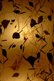 Altes gelbes Papier mit Hintergrundleuchte Stockfoto