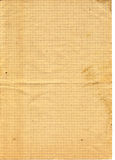 Altes gelbes strukturiertes überprüftes Papier Stockfotos