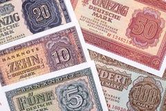 Altes Geld aus Deutschland, ein Hintergrund stockfotos