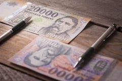 Altes Geld, neues Geld Stockbild
