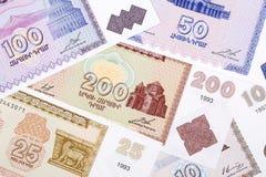 Altes Geld von Algerien, ein Hintergrund Lizenzfreies Stockfoto