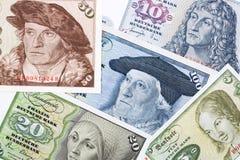 Altes Geld von der Bundesrepublik Deutschland, ein Hintergrund Stockbilder