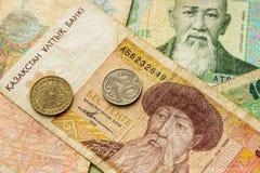 Altes Geld von Kasachstan stockbilder