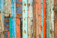 Altes gemaltes Holz stockfoto
