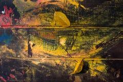 Altes gemaltes Holz Stockbild