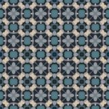 Altes geometrisches Muster in der Wiederholung Gewebedruck Nahtloser Hintergrund, Mosaikverzierung, ethnische Art Lizenzfreies Stockbild