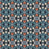 Altes geometrisches Muster in der Wiederholung Gewebedruck Nahtloser Hintergrund, Mosaikverzierung, ethnische Art Stockfoto